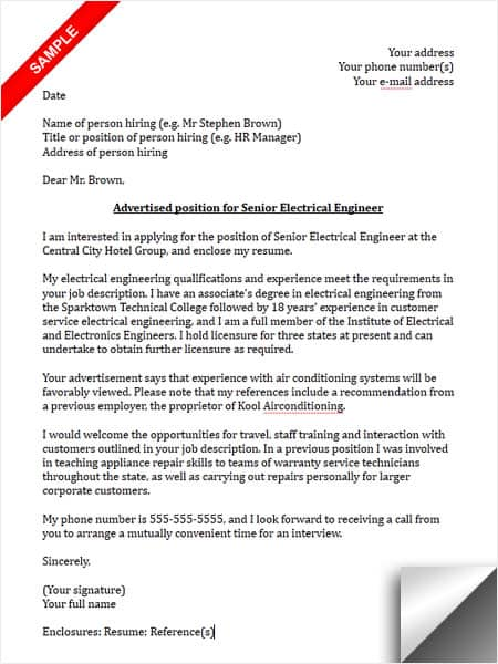 Electrical Engineer Cover Letter Sample Myjobsearch Com