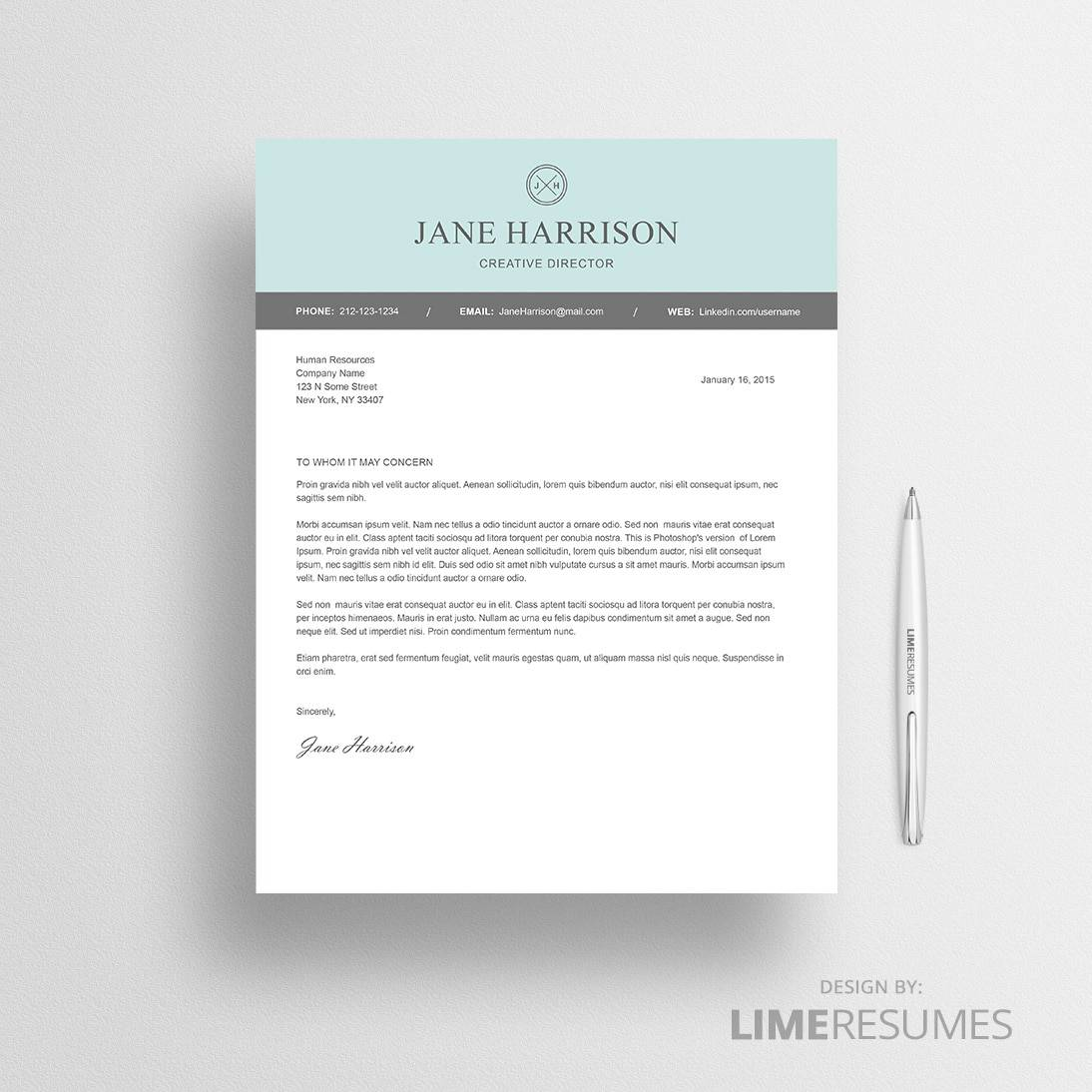 Modern cover letter template for Word