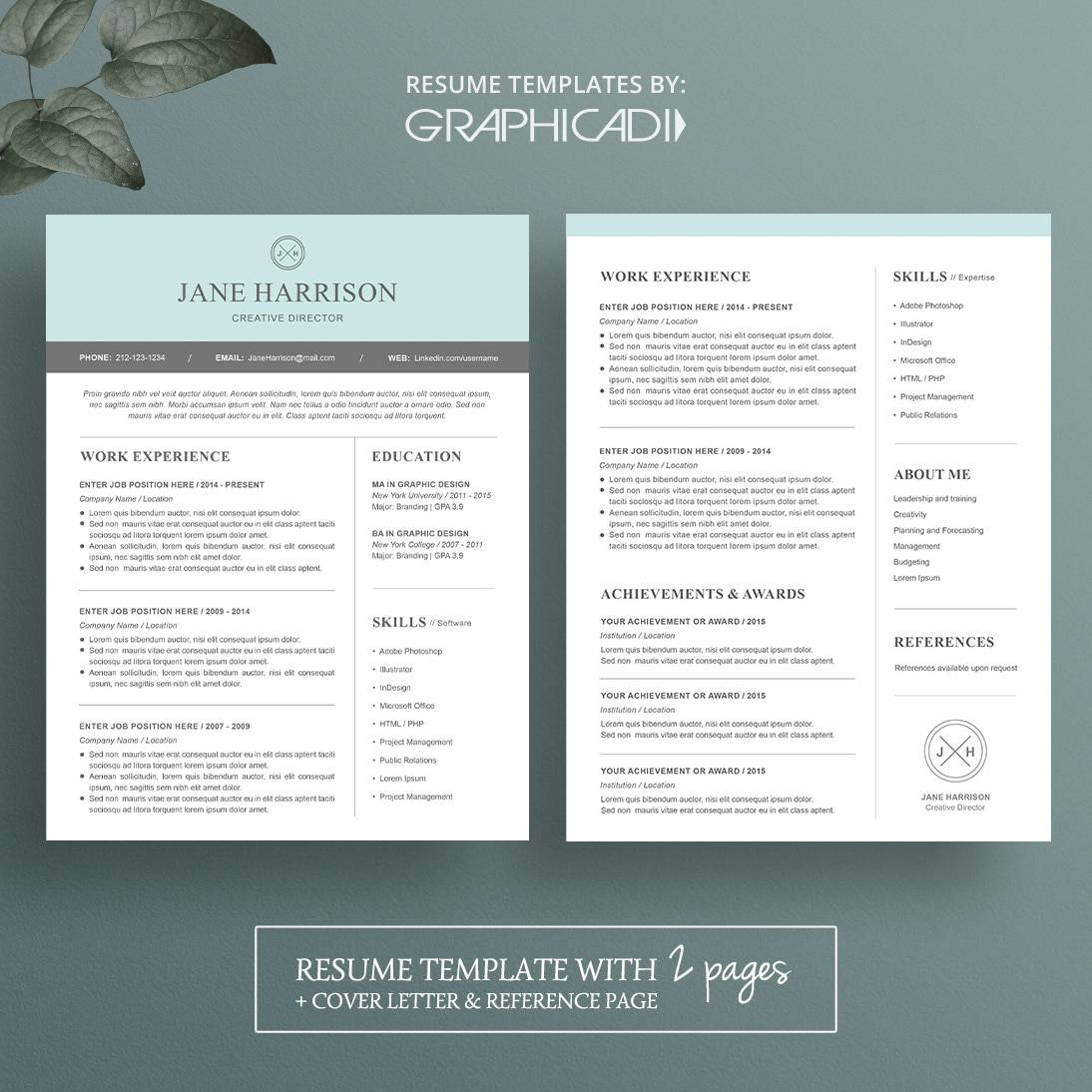 resume templates pages modern resume template for microsoft word limeresumes 24470