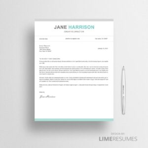 Professional cover letter for MS Word and Apple Pages
