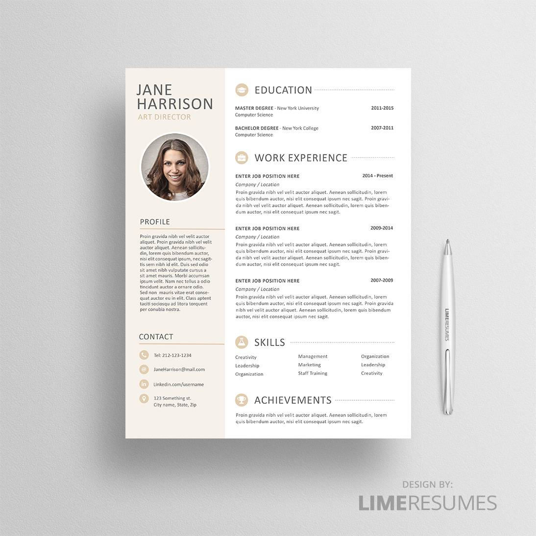 resume with photo cv template with photo limeresumes