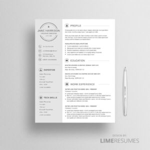 Creative resume template for iWork Pages and Microsoft Word