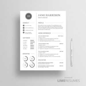 Resume template with charts