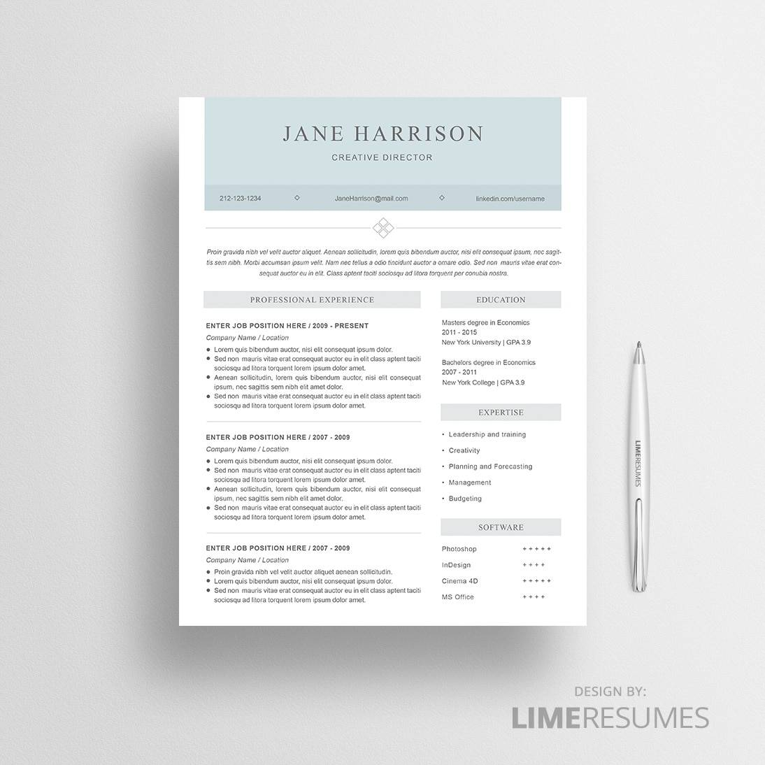 AtsFriendly Resume Template  Ats Resume Template