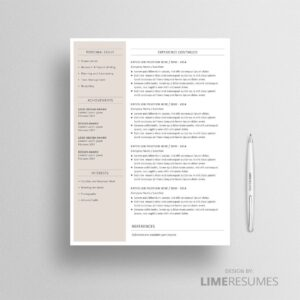 2 page resume template 02