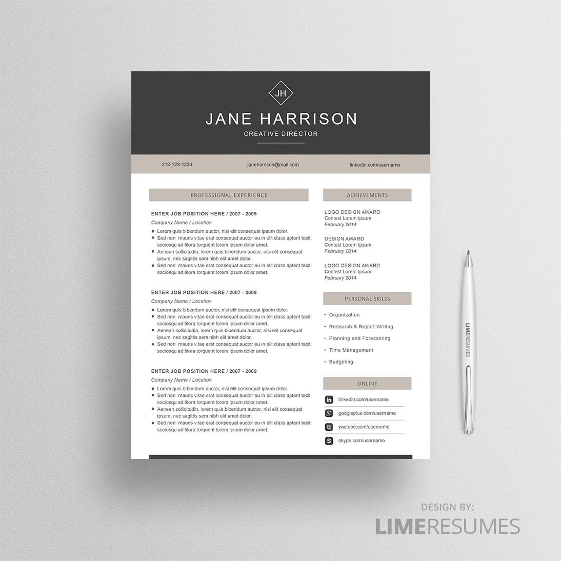 modern resume template for microsoft word