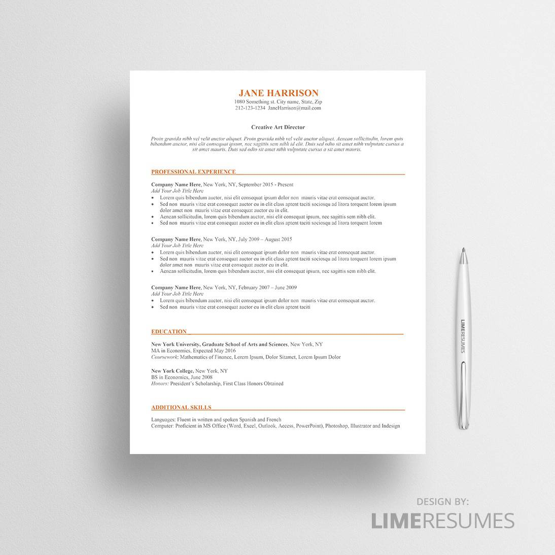 ATS resume template 01