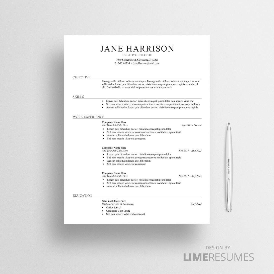 Ats Resume Template  AtsFriendly Resume Template