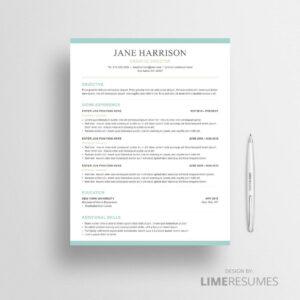 Word resume template 39