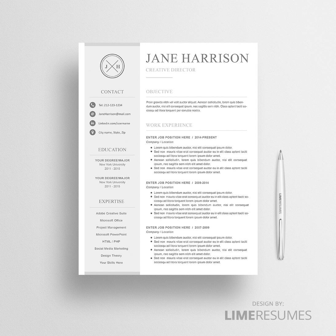 Modern Resumes  Browse Resumes By Style  Limeresumes