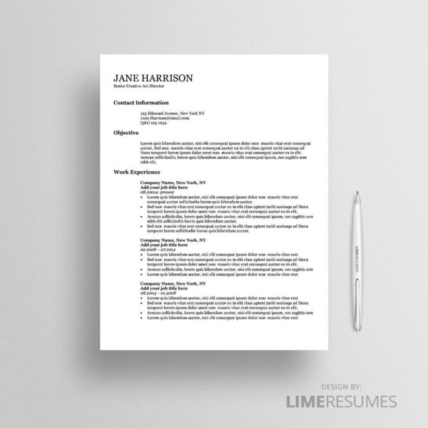 Resume template ATS 04