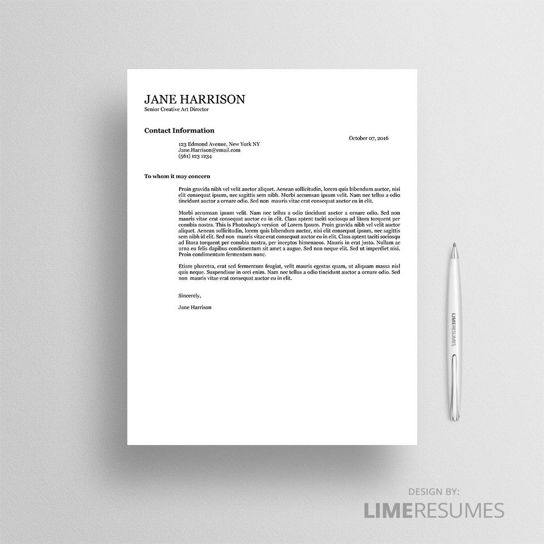 Cover letter ATS 04