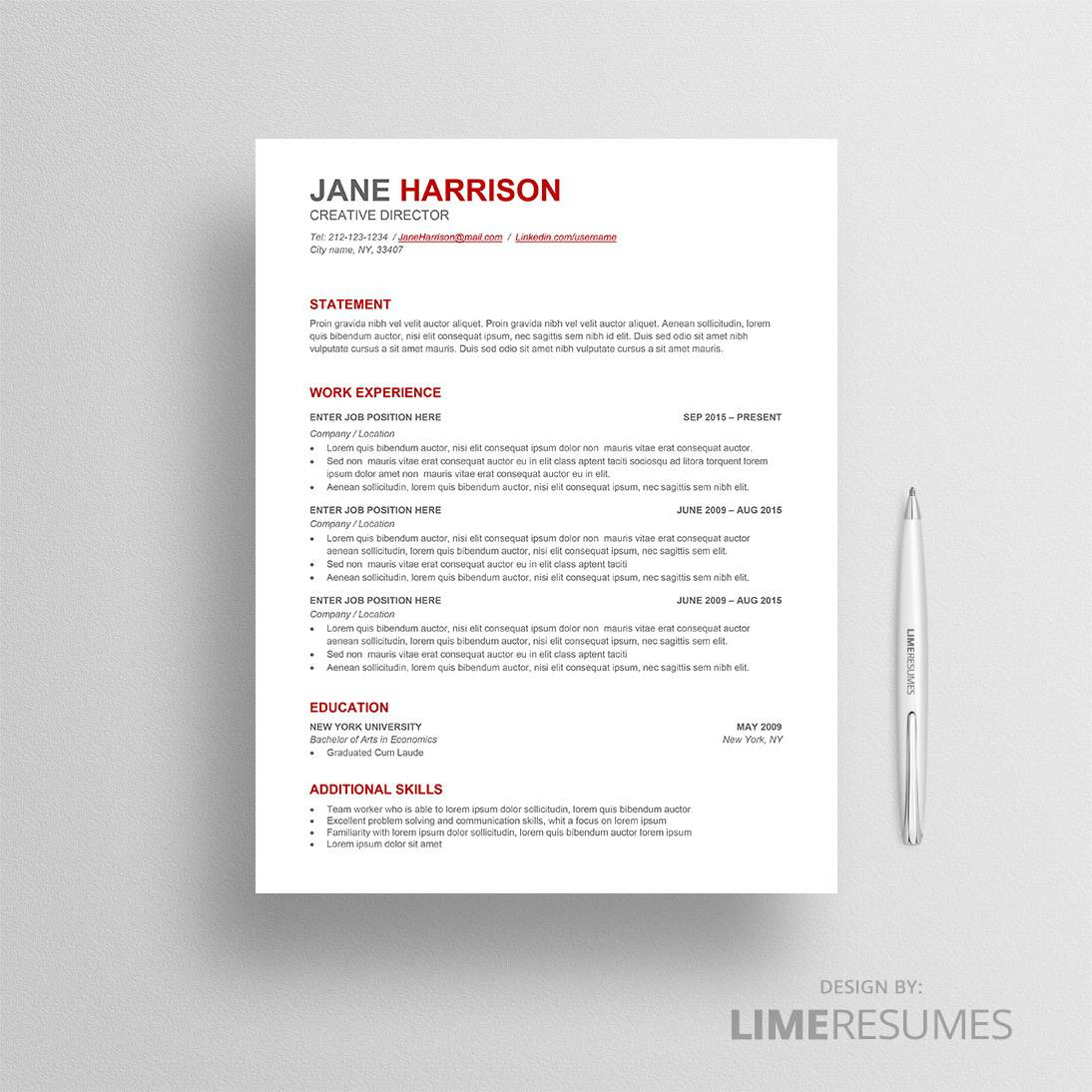 Resume template ATS 06
