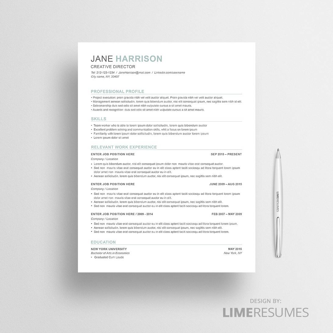 combination resume template 43 - Combination Resume