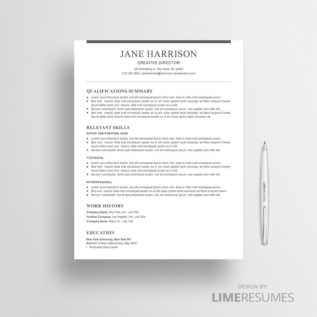 Functional resume template 42