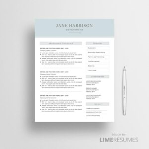 2 page resume template 44