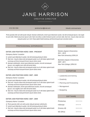 Creative Resume Template  Creative Resume Examples