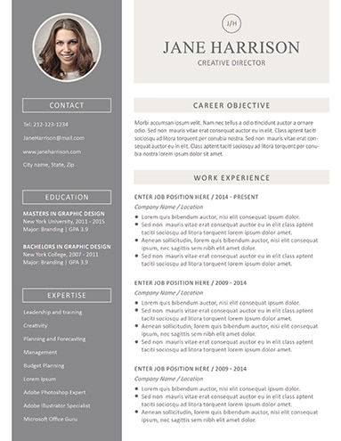 Resume Template With Photo