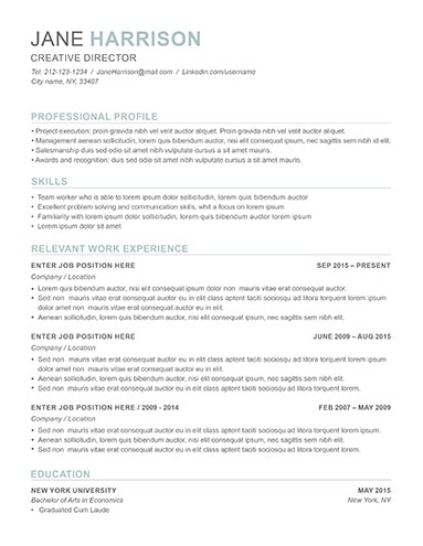 ATS Optimized Resume Template  Resume Ats