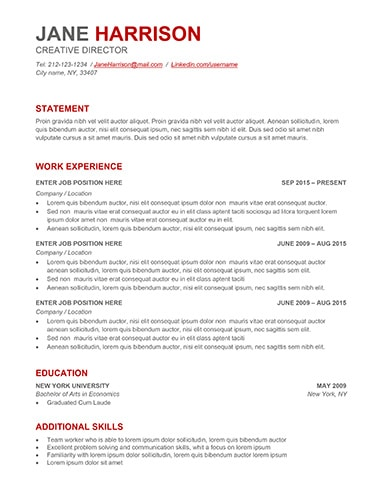 ats friendly resume template free templates optimized