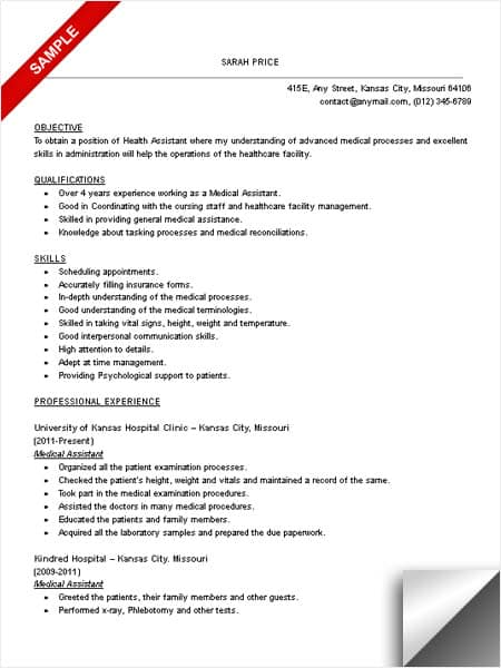 Medical Assistant Resume Sample Limeresumes
