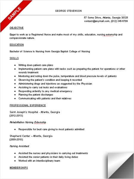 Nursing Student Resume Sample  Student Nurse Resume Sample